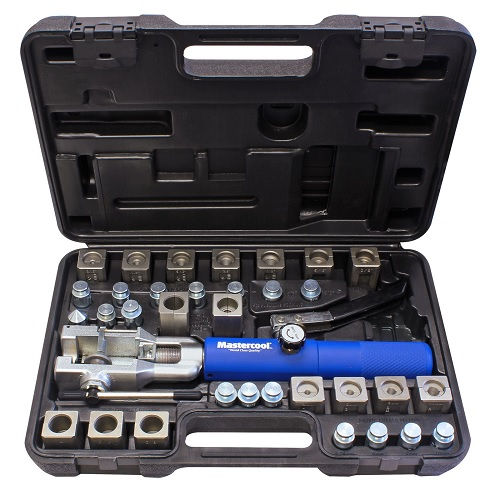 UNIVERSAL HYDRAULIC FLARING TOOL SET WITH JIFFY TITE FITTING MAS72485 | Tool Discounter