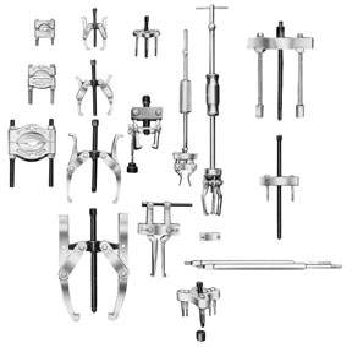 OTC 1689 30-Ton Capacity Hydraulic Puller Set