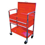 Tubular Frame Tool Cart w/ Locking Lid and drawers AFF952 | Tool Discounter