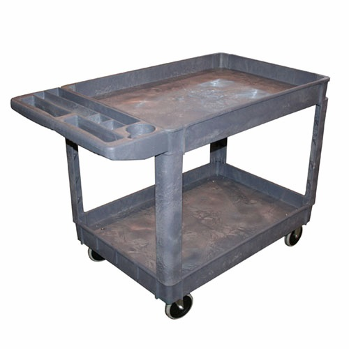 Large 2 Shelf Polypropylene Shop Cart AFF962 | Tool Discounter