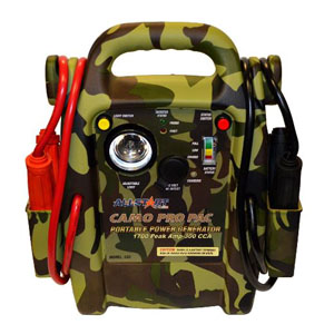 Camo Pro Pac Battery Jump Starter with AC Inverter ALL555 | Tool Discounter