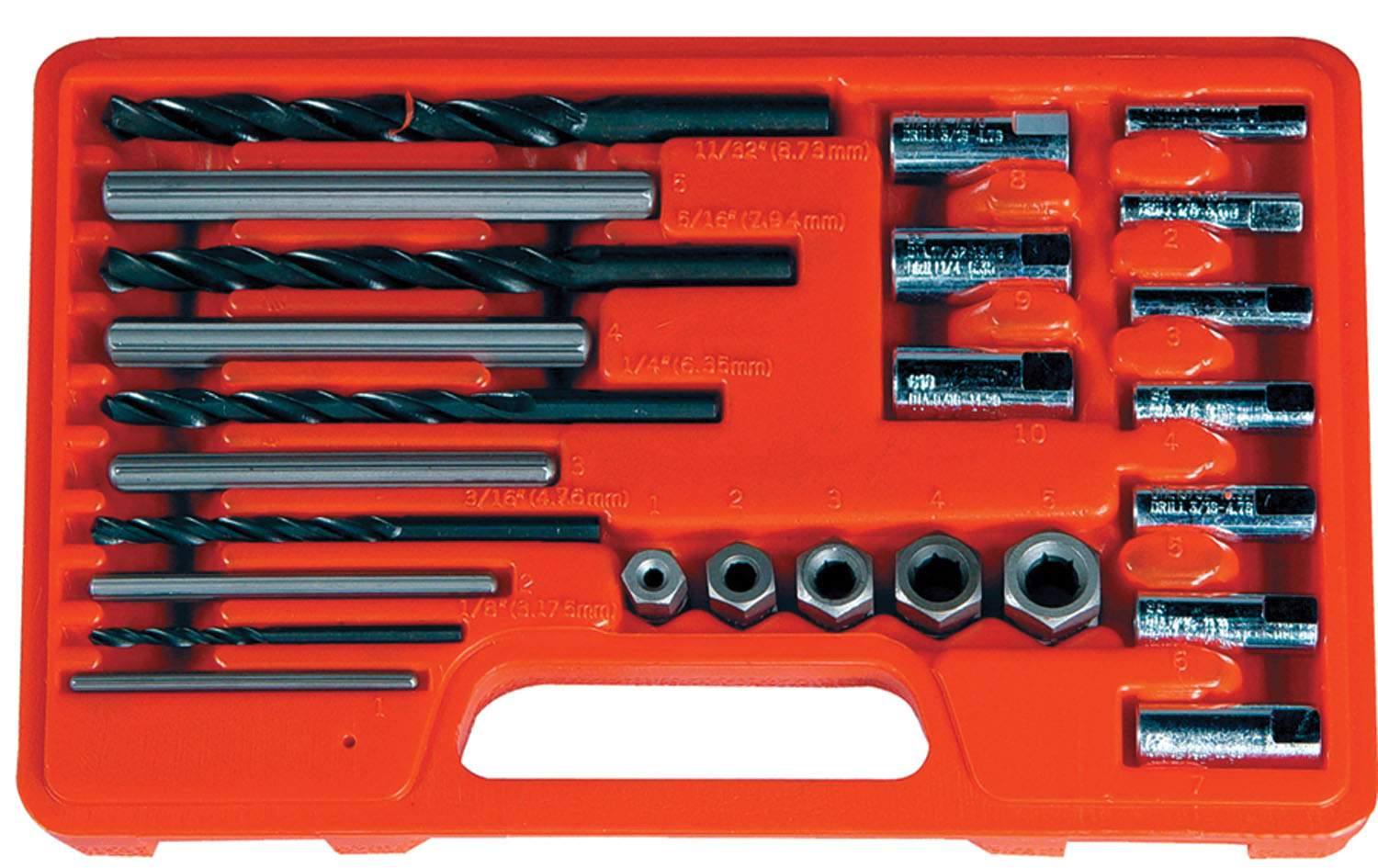 Screw Extractor / drill & Guide Set, 25 pc AST9447 | Tool Discounter