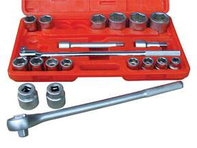 21 PC. 3/4 INCH DRIVE 6 POINT SAE SOCKET SET ATD10021 | Tool Discounter