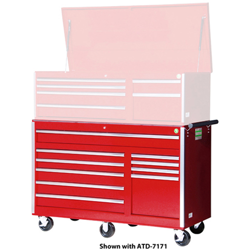 56 inch Wood Top Roller Cabinet, Red ATDWT7172RD | Tool Discounter