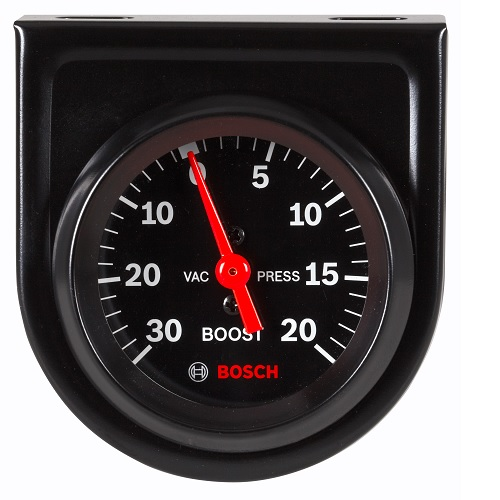 GAUGE, VACUUM / BOOST, MECHANICAL, BLACK - STYLELINE BOSFST8213 | Tool Discounter