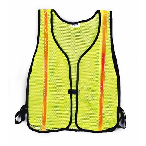 Premium Lime Green Vest - Wide Stripes HD Construction CHH55120 | Tool Discounter