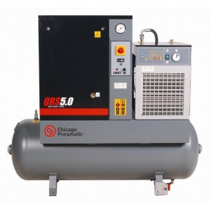 5 hp Rotary Screw Air Compressor - 1 phase w/ dryer CHPQRS5.0HPD-1 | Tool Discounter