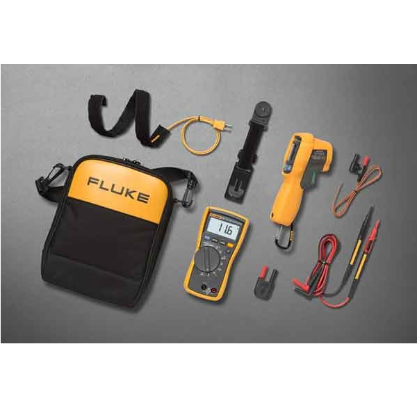 HVAC MULTIMETER AND IR THERMOMETER COMBINATION KIT FLU116/62MAX | Tool Discounter