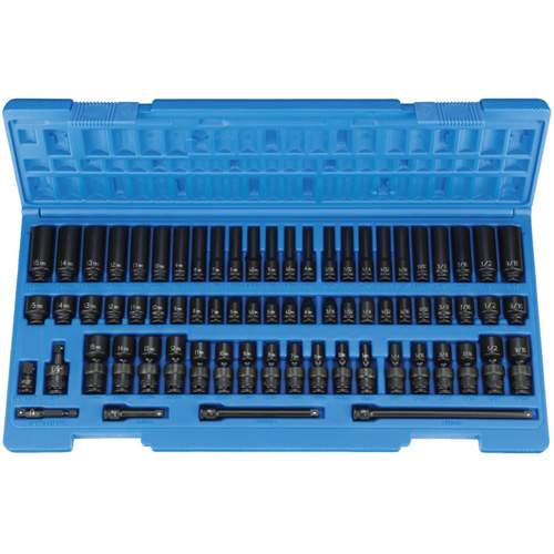 1/4 DRIVE STANDARD/DEEP SURFACE DRIVE IMPACT SET GRY9772 | Tool Discounter