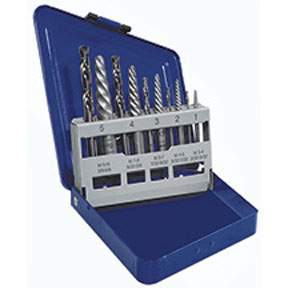 10 pc Spiral Extractor and drill Bit Set HAN11119 | Tool Discounter