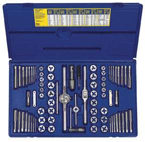 76 pc Machine Screw Tap and Hex Die Set HAN26376 | Tool Discounter