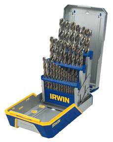 29 pc Cobalt M-35 Metal Index drill Bit Set HAN3018002 | Tool Discounter
