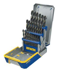 29 pc Black and Gold Metal Index drill Bit Set HAN3018005 | Tool Discounter