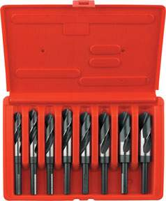 Reduced Shank Silver & Deming High Speed Steel drill Bit Set HAN90108 | Tool Discounter