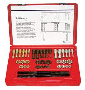 40-PC SAE & METRIC THREAD RESTORER KIT KAS972 | Tool Discounter