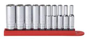 SOCKET SET, 1/4 DRIVE, 10 PC, FRAC, DEEP KDT80305 | Tool Discounter