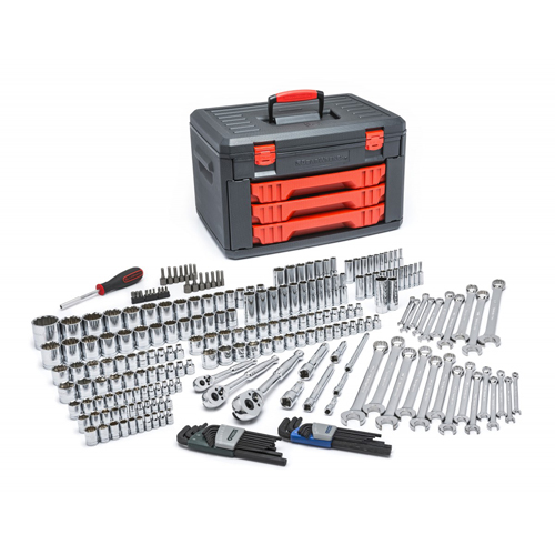 1/4, 3/8, 1/2 inch dr Metric & SAE Socket & Ratchet Set 239-pc KDT80942 | Tool Discounter