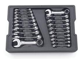 20 PC 12 PT SAE/METRIC STUBBY COMBINATION WRENCH SET KDT81903 | Tool Discounter