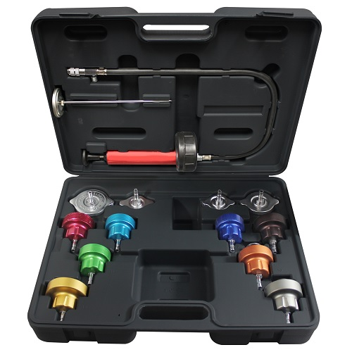 14 pc Universal Cooling System Pressure Test Kit MAS43300 | Tool Discounter