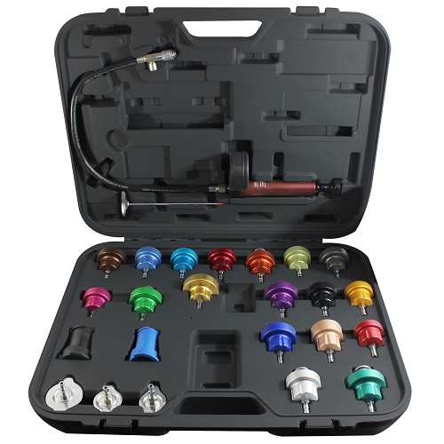 25 pc Master Cooling System Pressure Test Kit MAS43302 | Tool Discounter
