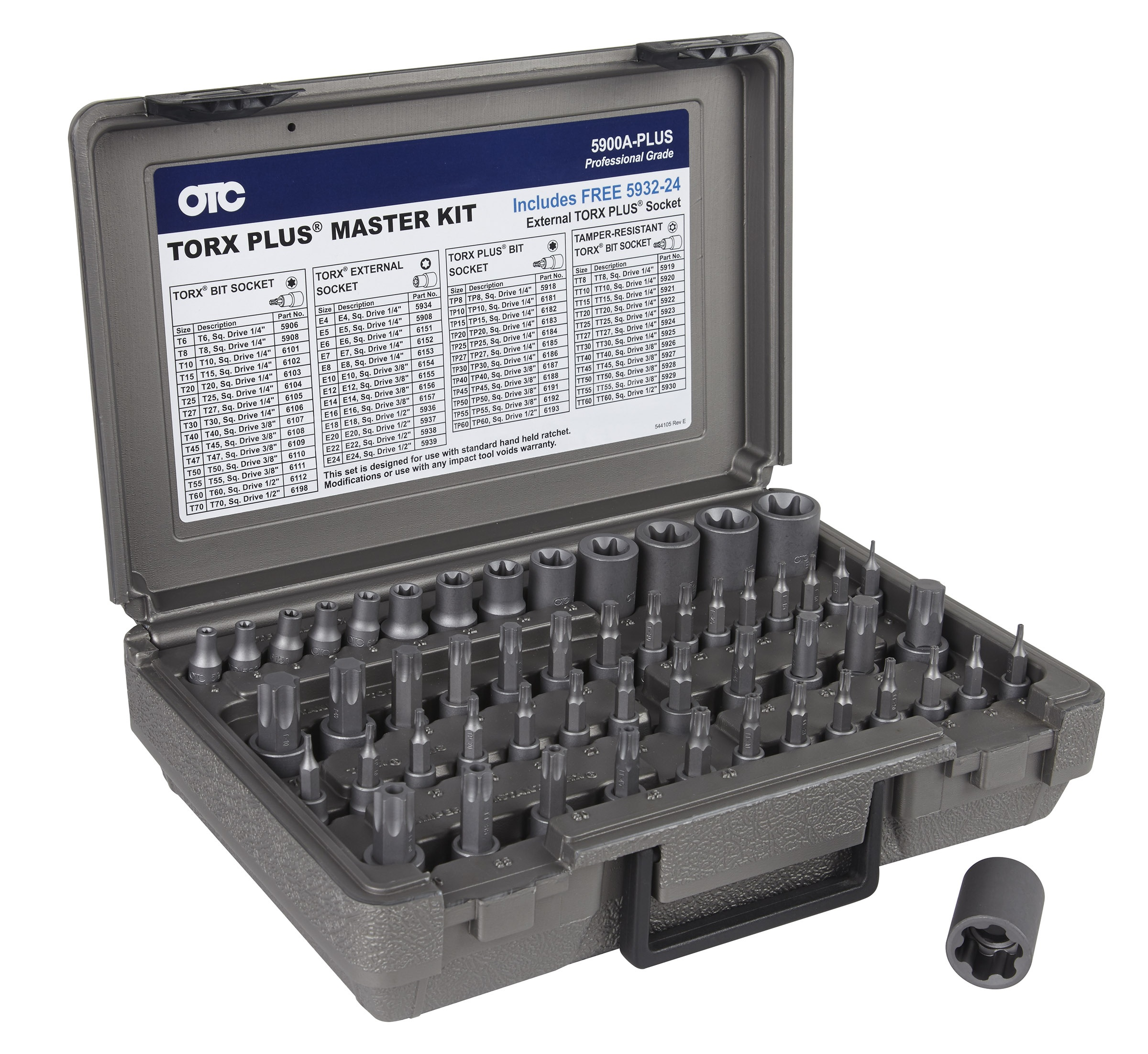 53 PC MASTER TORX SET OTC5900A-PLUS | Tool Discounter