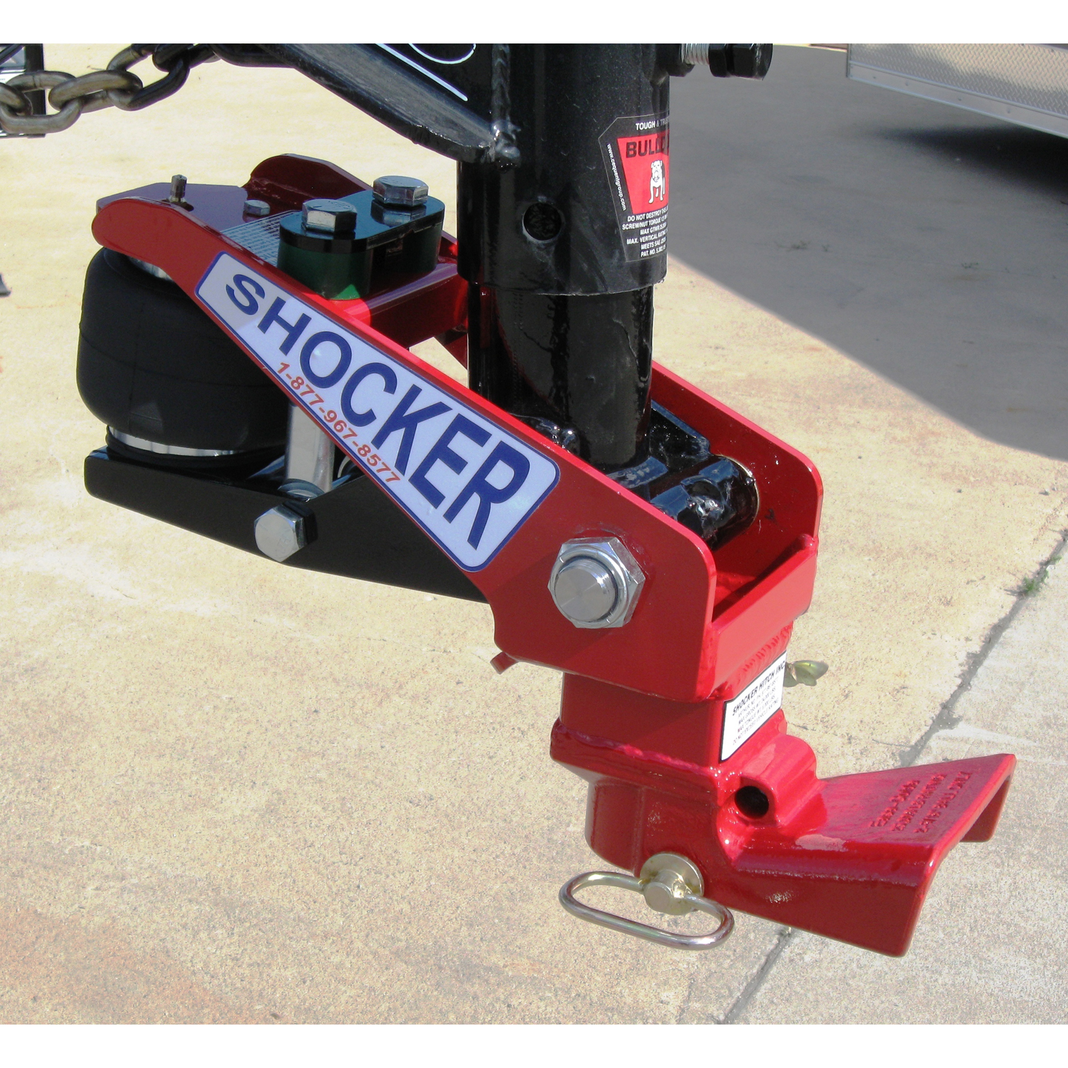 Gooseneck Hitch 4 inch ROUND Tube with EASE GUIDE SHHSH-900EG | Tool Discounter