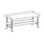 Bench, 48 x 30 inch with Hardwood Top SHU811056 | Tool Discounter