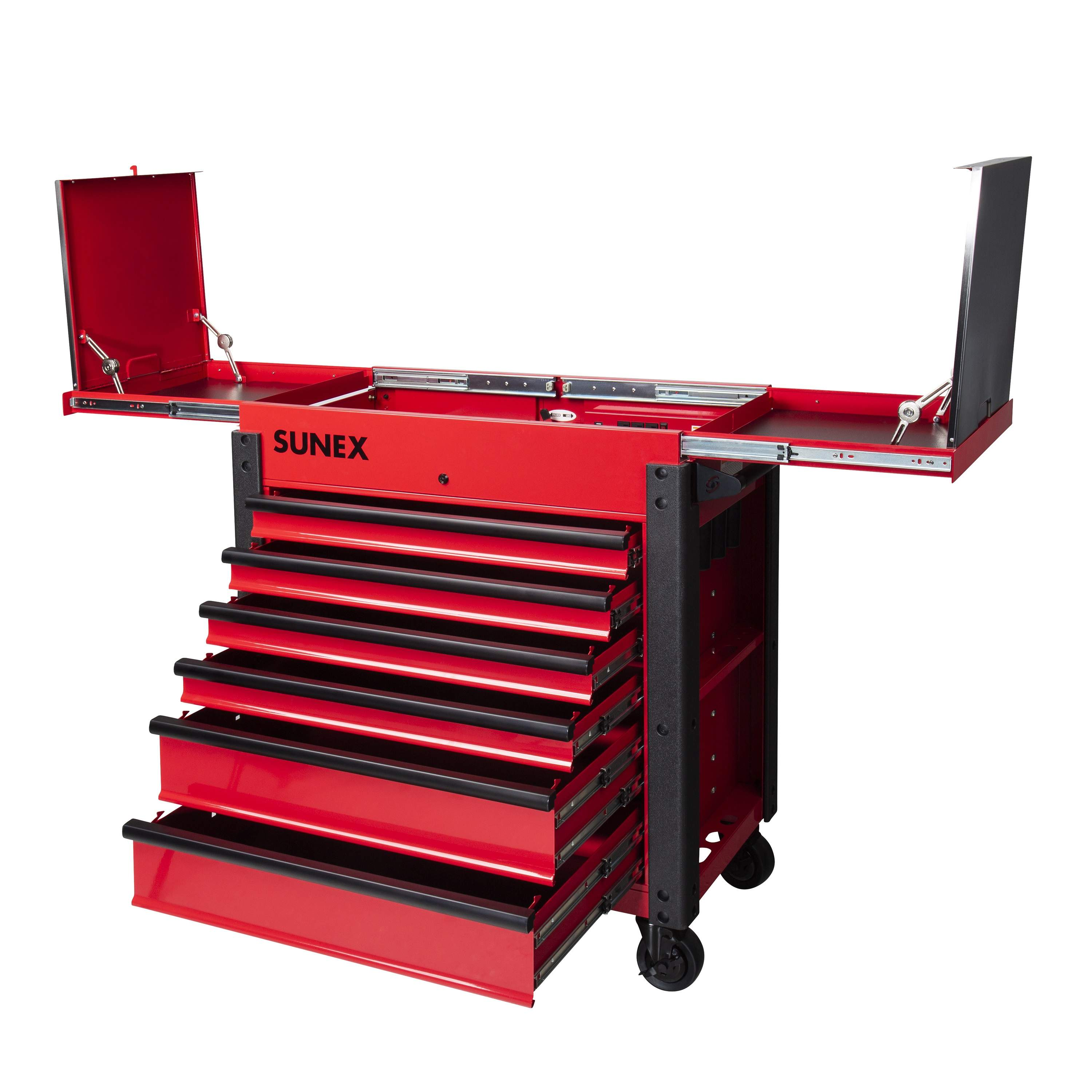 6 DRAWER SLIDE TOP SERVICE CART, RED SNX8035XTFD | Tool Discounter