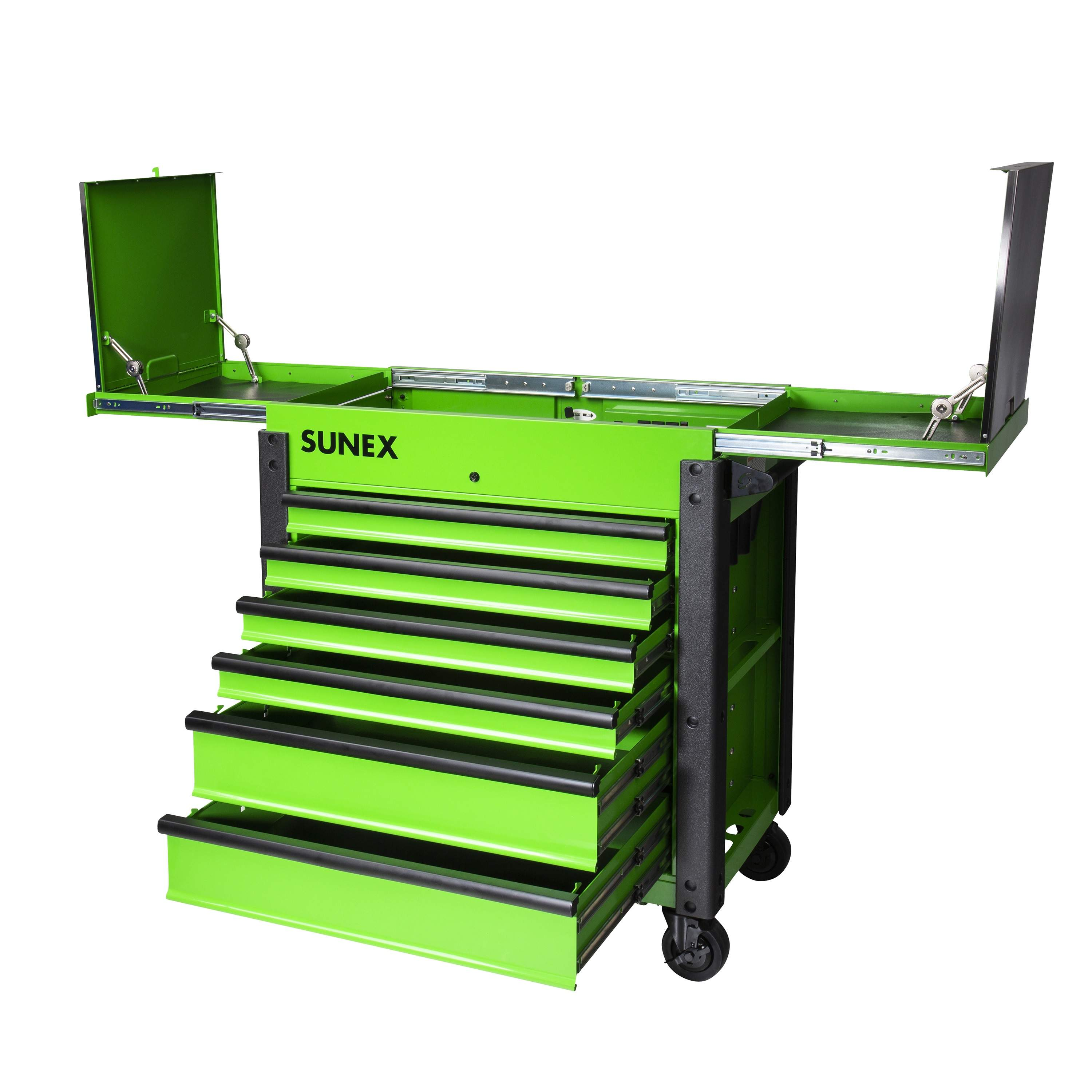 6 DRAWER SLIDE TOP SERVICE CART, LIME GREEN SNX8035XTFDLG | Tool Discounter