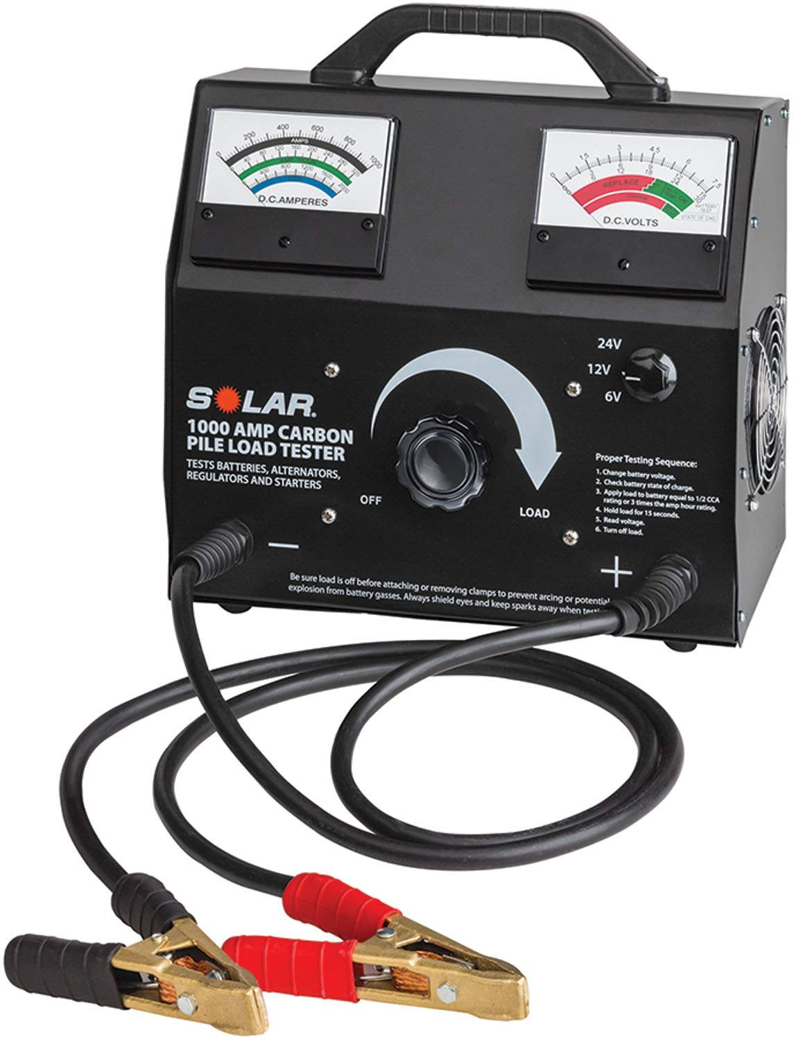 6/12/24 VOLT CARBON PILE BATTERY LOAD TESTER SOL1876 | Tool Discounter