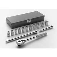 1/2 INCH DR 12 PT 14 PC METRIC SOCKET SET WRIA46 | Tool Discounter
